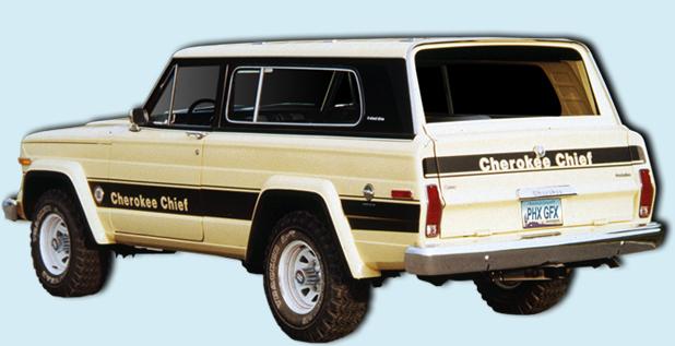 Phoenix Graphix 1979 80 Jeep Cherokee Sj Chief Decal Kit