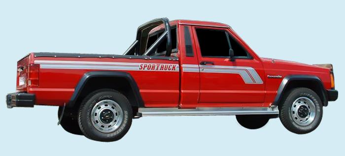 Phoenix Graphix 1987 90 Jeep Comanche Mj Sportruck Decal Kit