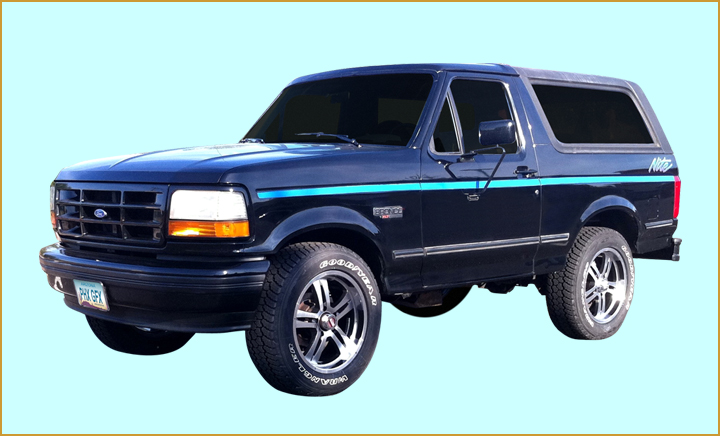 1991 1992 ford nite truck f150 bronco cab bed decals stripes kit ebay. Black Bedroom Furniture Sets. Home Design Ideas