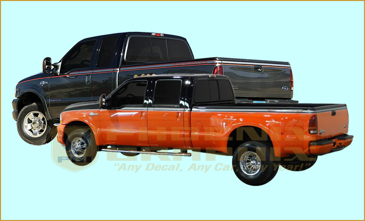 2 Custom Truck Bed Stripe Decal Set of for Ford F-250 Super Duty Pickup