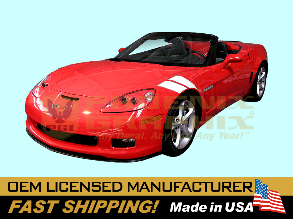 wide body 2010 2011 2012 2013 Corvette C6 Hash Marks Decals Stripes Kit