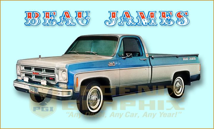 1975 Gmc Truck Beau James Decals Kit Ebay
