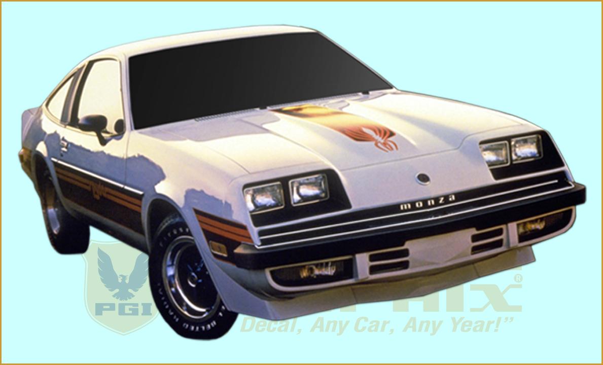 1980 Chevy Monza Spyder Z29 Spider Package Decals Stripes