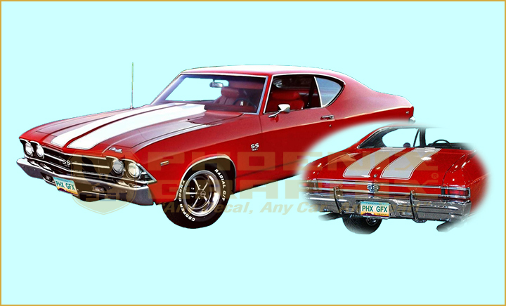 Details about 1968 1969 Chevelle SS Super Sport Custom Rally Stencils  Decals Stripes Kit