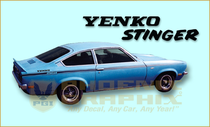 1971 1972 1973 Chevrolet Vega Yenko Stinger Decals