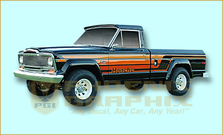 1979 1980 jeep honcho j10 townside truck decals stripes kit ebay rh ebay com 85 Jeep CJ7 Wiring-Diagram 84 Jeep CJ7 Wiring-Diagram