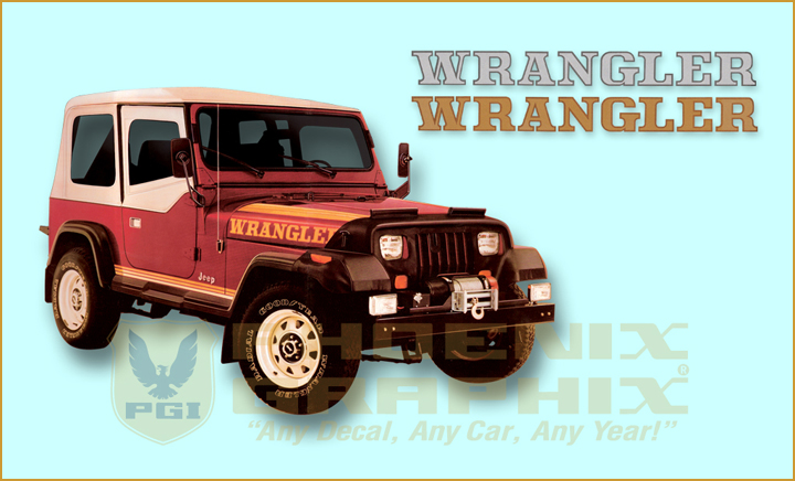 Jeep Wrangler YJ Decals Stripes Kit EBay - Custom windo decals for jeepsjeep hood decals and stickers custom and replica jeep decals now