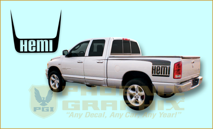 Dodge Ram Truck Hockey Stick - Truck bed decals custombody graphicsdodge ram