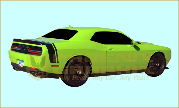 2015 2016 2017 dodge challenger scat pack bumble bee stripes ebay. Black Bedroom Furniture Sets. Home Design Ideas