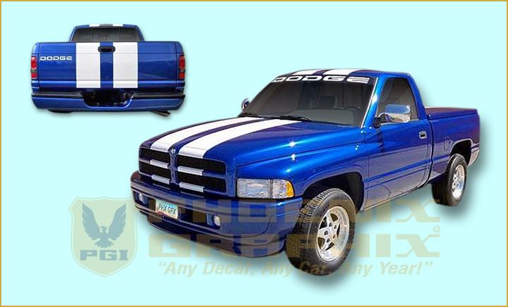 1996 Dodge Ram 1500 V8 Magnum Indy 500 Pace Truck Decals Stripes