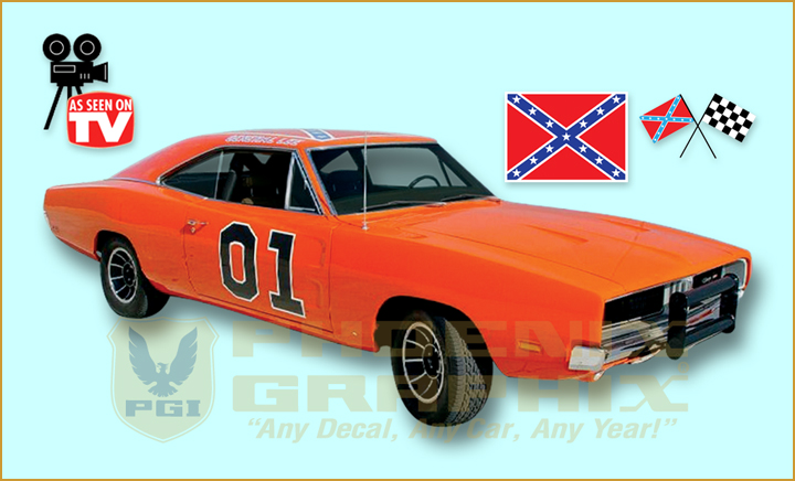1968 1969 1970 dodge charger general lee complete decals. Black Bedroom Furniture Sets. Home Design Ideas