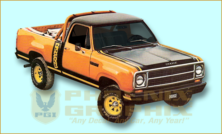 1980 Dodge Power Wagon Macho http://www.ebay.ca/itm/1979-1980-Dodge-Macho-Power-Wagon-Decal-Stripe-Kit-/110892475417