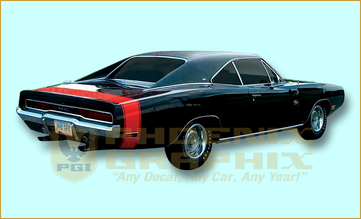 1970 dodge charger r t rt bumble bee decals stripes kit. Black Bedroom Furniture Sets. Home Design Ideas