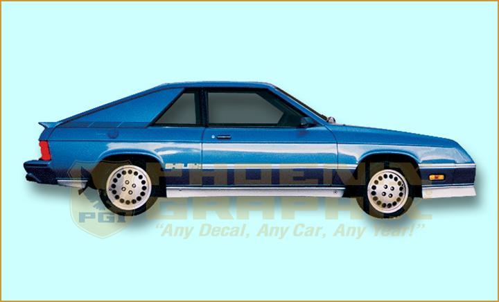 1987 Dodge Reproduction Decals Autos Post