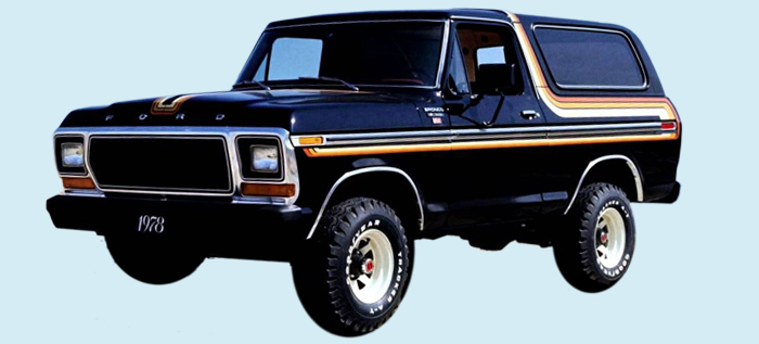Old Ford Trucks Decals : Phoenix graphix ford bronco free wheeling truck decal kit