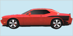 2012-14 Dodge Charger Super Bee Tail Stripes