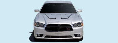 2011-2014 Dodge Charger Hood U-stripes